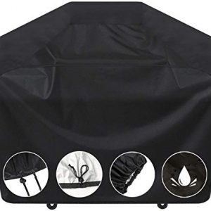 SARCCH Grill Cover,58- inches BBQ Special Grill Cover, Waterproof,UV and Fade Resistant, Durable and Convenient, Black,Fits Grills of Weber Char-Broil Nexgrill Brinkmann and More,