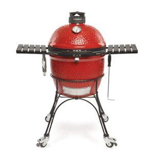 Kamado Joe KJ23RHC Classic II Charcoal Grill, 18 inch, Blaze Red