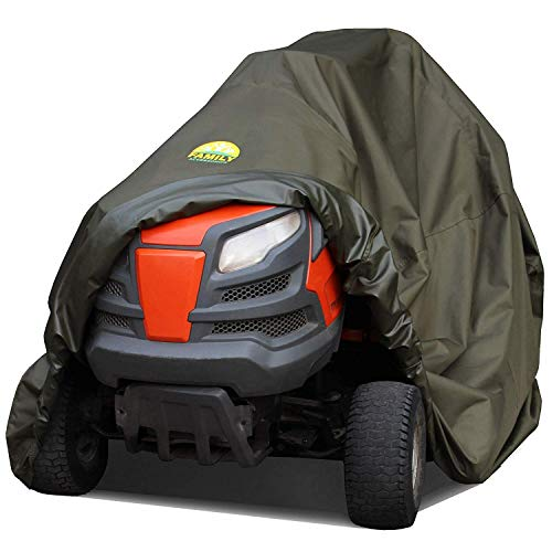 Family Accessories Waterproof Riding Lawn Mower Cover - Heavy Duty, Durable, UV and Water Resistant Cover for Ride-On Garden Tractor with Bagger or Attachment, Extra Large XL Size 98Lx44Wx43H
