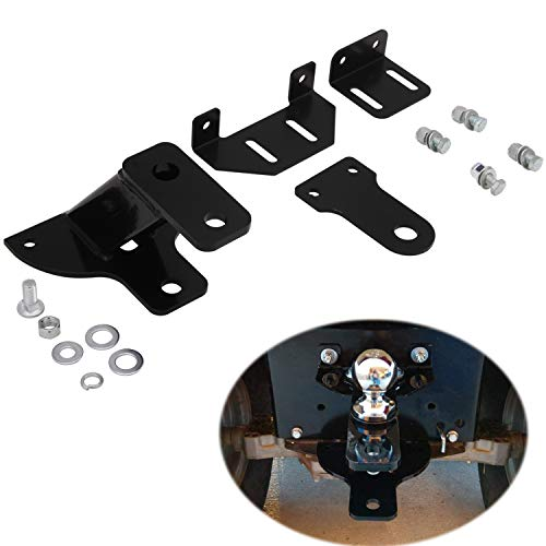 CNSY Universal Lawn Tractor Hitch 3-Way Garden Trailer Hitch with Support Brace Kit