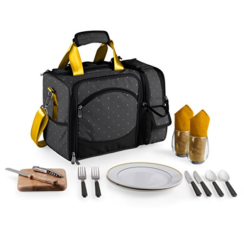 Picnic Time Laguna Insulated Cooler with Deluxe Picnic Service for Two, Anthology Collection