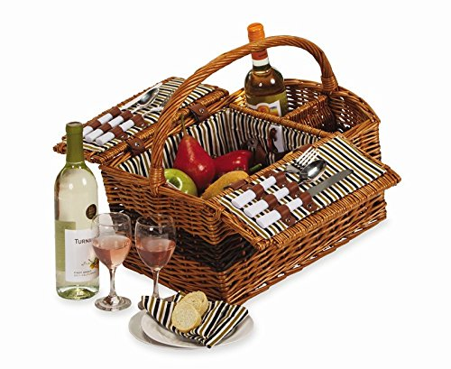 Largo Two Person Picnic Basket (Natural)