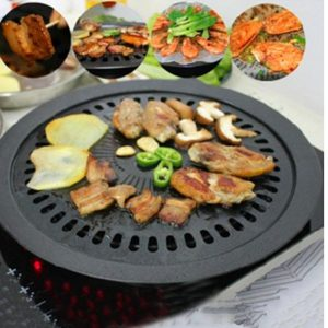 BBQ Grill Plate Barbecue Non-stick Pan Set with Holder Set