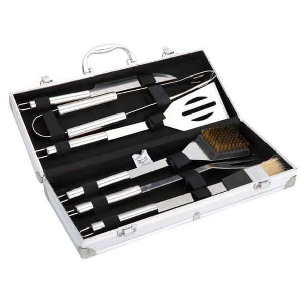 Barbecue 6-piece Set Grill Cookware Utensils with Aluminium Case