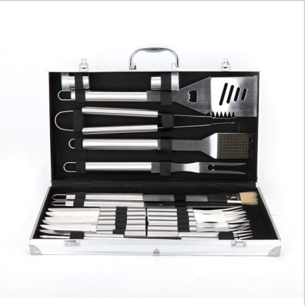 6pcs Stainless Steel BBQ Tool Set BBQ Grill Tong