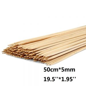 Long Bamboo BBQ Skewers Wooden