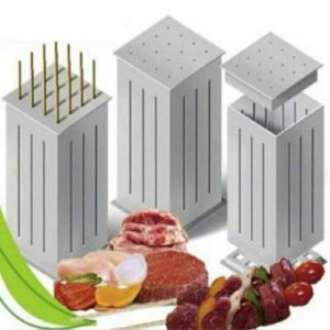 16 Holes BBQ Meat Skewer Tool Box Kebab Maker Barbecue