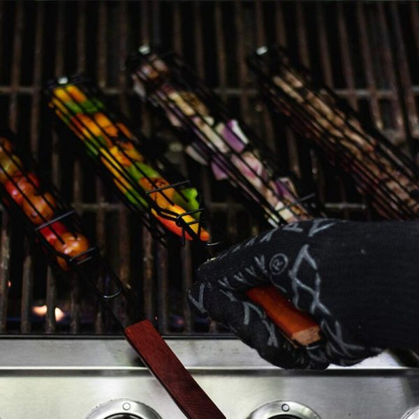 BBQ Barbecue Grilling Basket Non Stick Grilling Set of 6