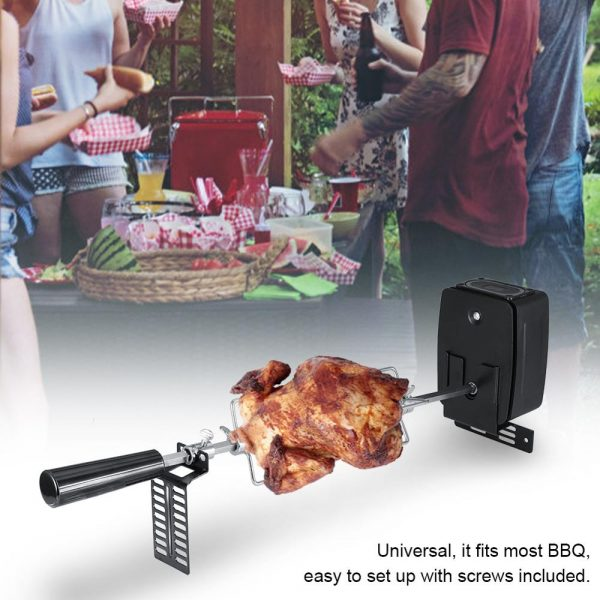 Rotisserie Kit for Outdoor Barbecue Stainless Steel Spit Rod