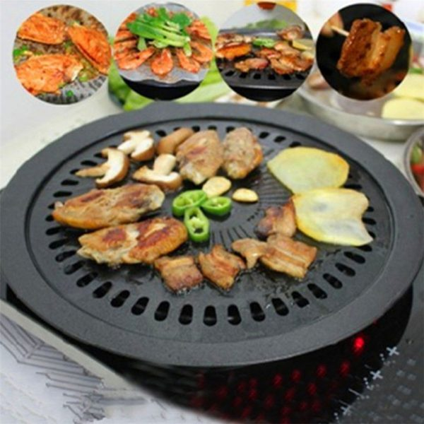 New Barbecue plate Round Iron Korean BBQ Grill Plate