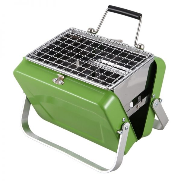 Mini Folding Barbecue Grill Portable Charcoal Grill Stainless Steel for Camping Travel Garden Outdoor