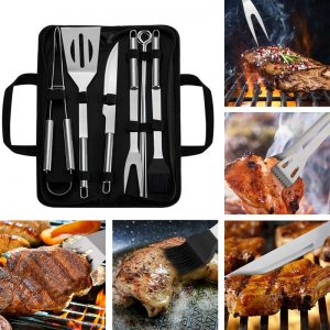 18Pcs Barbecue Grilling Utensil Accessories Stainless Steel BBQ Tool Set