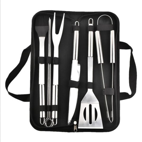 9Pcs/Set Stainless Steel Barbecue Grilling Tools Set
