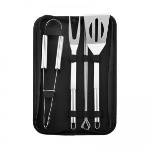 Extra Thick Stainless Steel Spatula, Fork, Tongs and Skewers