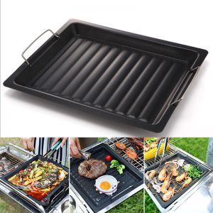 BBQ Frying Grill Plate Korean BBQ Frying Pan Non-Stick
