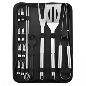 16-Piece Stainless Steel Grill Utensils, Barbecue Set for Picnics