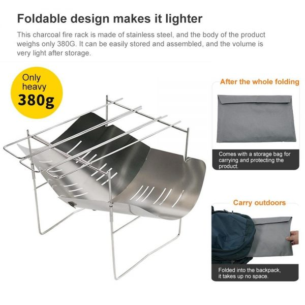 Folding Incense Rack Portable Camping Barbecue Grill