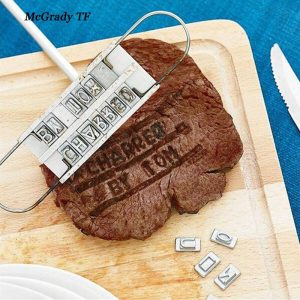 Personality Steak Meat Barbecue BBQ Meat Branding Iron With
