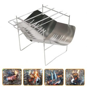 Stainless Steel Portable Folding Outdoor Camping Picnic BBQ