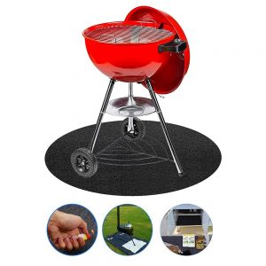 Barbecue Mat BBQ Oil-Proof Polyester Fibre PVC Grill Reusable
