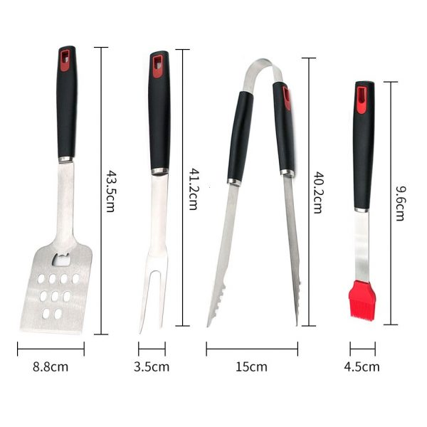 4pcs Stainless Steel Barbecue Grilling Tools Set BBQ Utensil