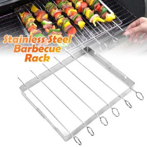 Durable Superior Tool Reusable Grilling Stainless Steel Sticks