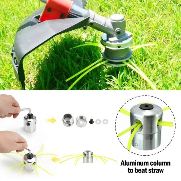 Grass Trimmer Head With 4 Lines Brush Cutter Head Lawn Mower